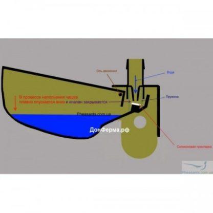 Чашечная поилка для кур и перепелов + тройник и крепление