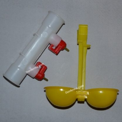 Поилка двойная на трубу 25 мм