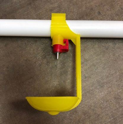 Система ниппельного поения 2/3/5 мест на основе ПП трубы d=25мм