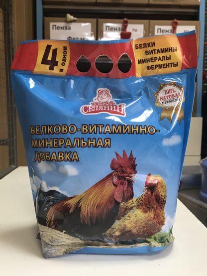 Белково-витаминно-минеральная добавка с ферментами для с/х птицы «премиум» 1,7кг